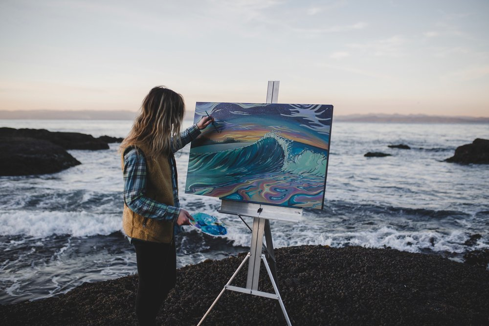 I was thrilled to write about my story of painting and have it featured in a women creatives community,  The Creative Chronicle . Check it out :)