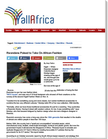 2013-11 -All Africa -Rwandans to Take On African Fashion .jpg
