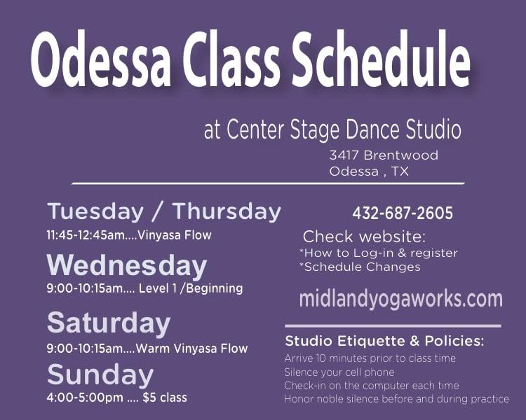 Yoga Odessa — Events — Midland Yoga Works