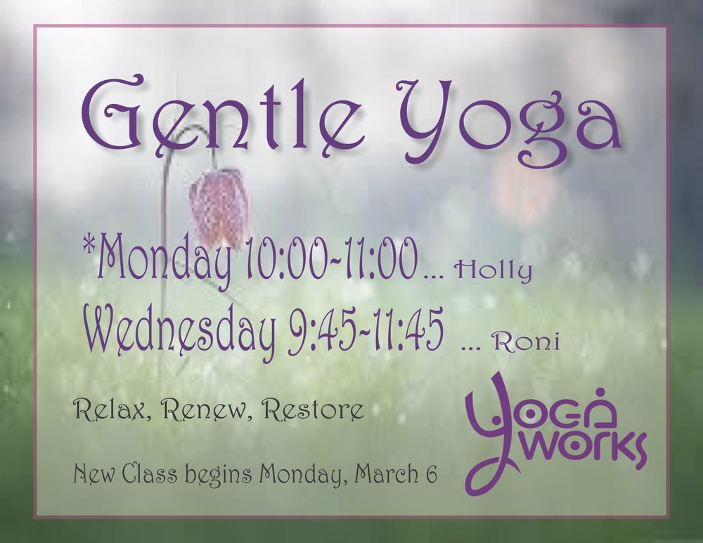 New gentle yoga class on monday at 1000 midland yoga works new gentle yoga class on monday at 1000 m4hsunfo
