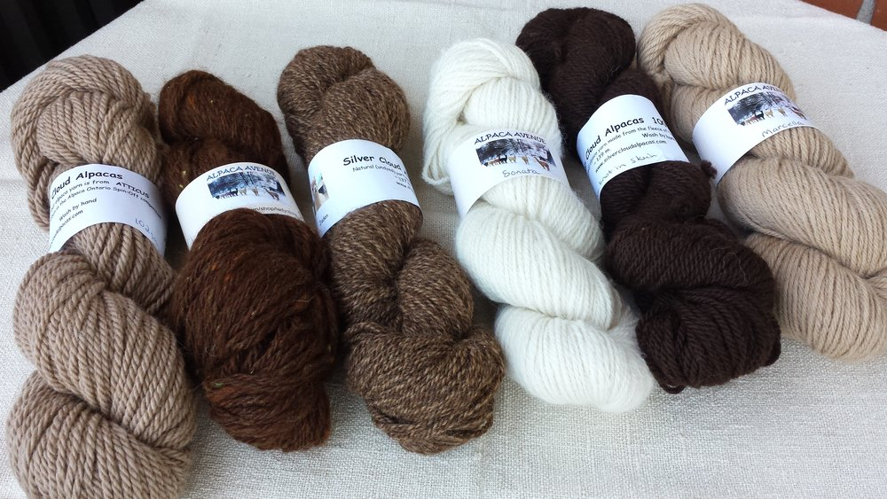 Soothing natural colours....alpaca comes in 22 different natural colours:)