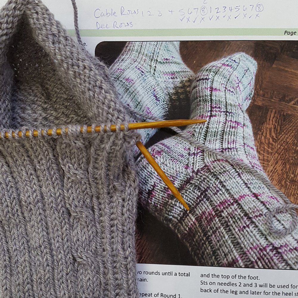 This is a free pattern by Glenna C that is available on Ravelry called So Simple Sport Socks that knits up quickly and this yarn.....is so lovely!!