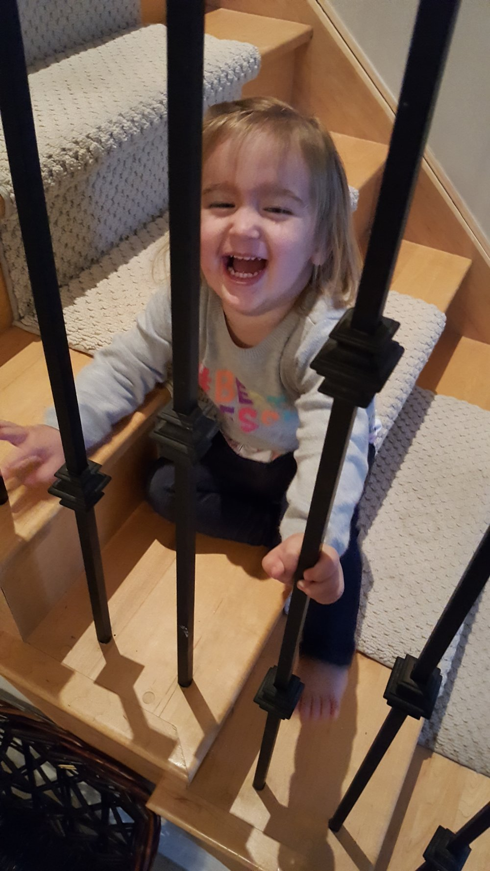 This picture of one of my granddaughters captures the sheer joy... the arrival of Daddy in this case....maybe this is how you feel about the arrival of Spring:)