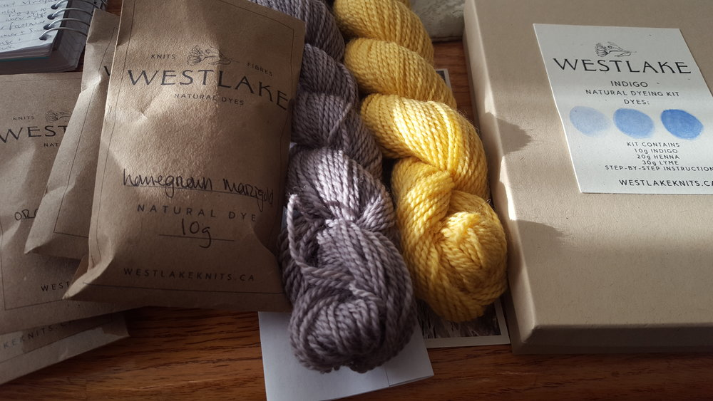 Botanical dyes and gorgeous yarn from Westlakeknits.ca