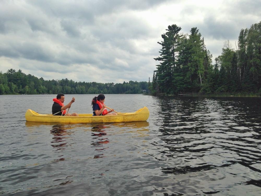 canoeing-clam-lake