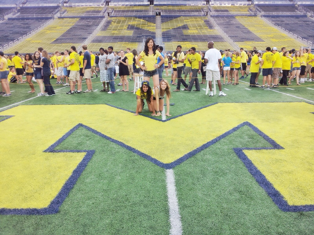 In the Big House for the first time!