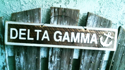 Delta Gamma Wooden Anchor