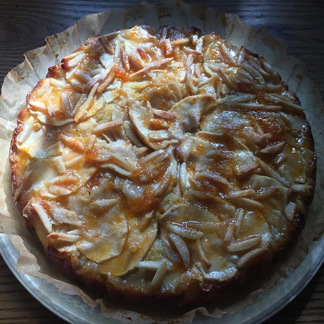 ¡Apple & Almond Polenta Cake!  Today we have a lovely treat that the morning light has cast a haze over. Stop by to try this light and sweet treat.  #applealmondpolentacake #polentacake #almonds #apples #cavemade #eat #health #doctorscavecafé #dcc #foodisamood