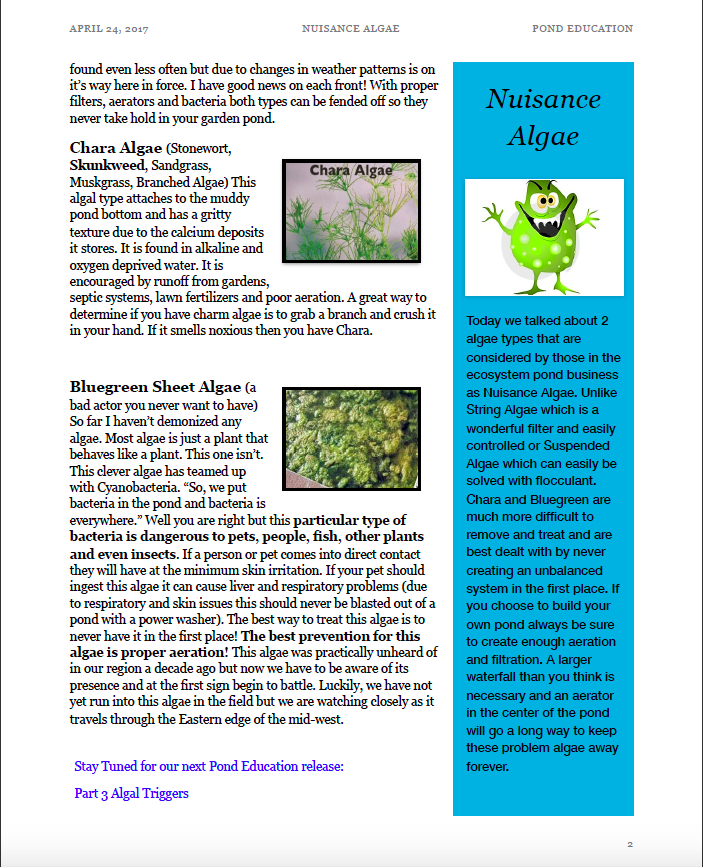 Ready to learn about Chara & Bluegreen Algae?