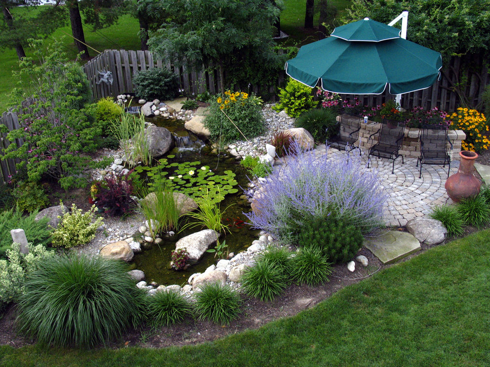Patios bring your life next to the pond and into the yard