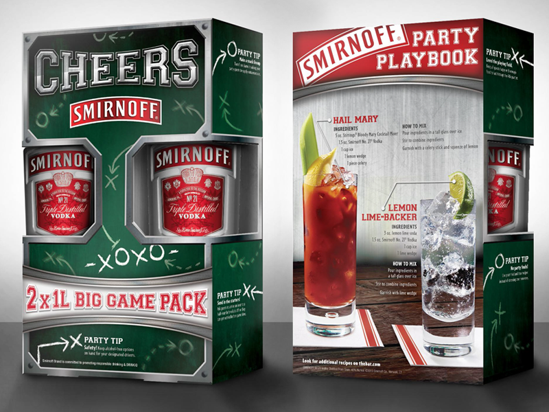 Smirnoff Big Game Packaging