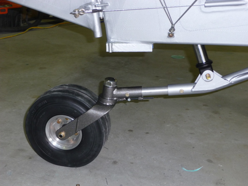 Excellent tail wheel by Jim Pekola, and SuperSTOL shock absorber