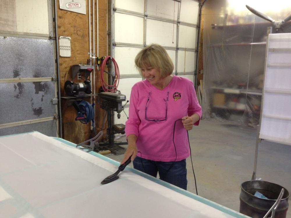 Cathy ironing
