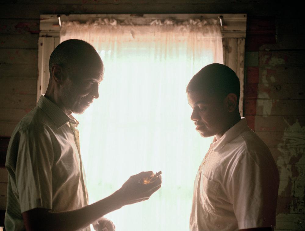 LB Williams as Mose Wright and Joshua Wright as Emmett Till  645 Kodak Portra (Medium Format)