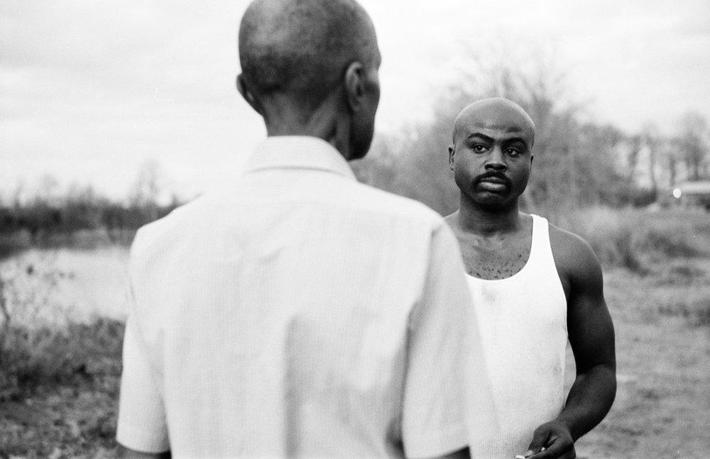 LB Williams as Mose Wright and Austin James as Deacon  Kodak Tri-X (35mm)
