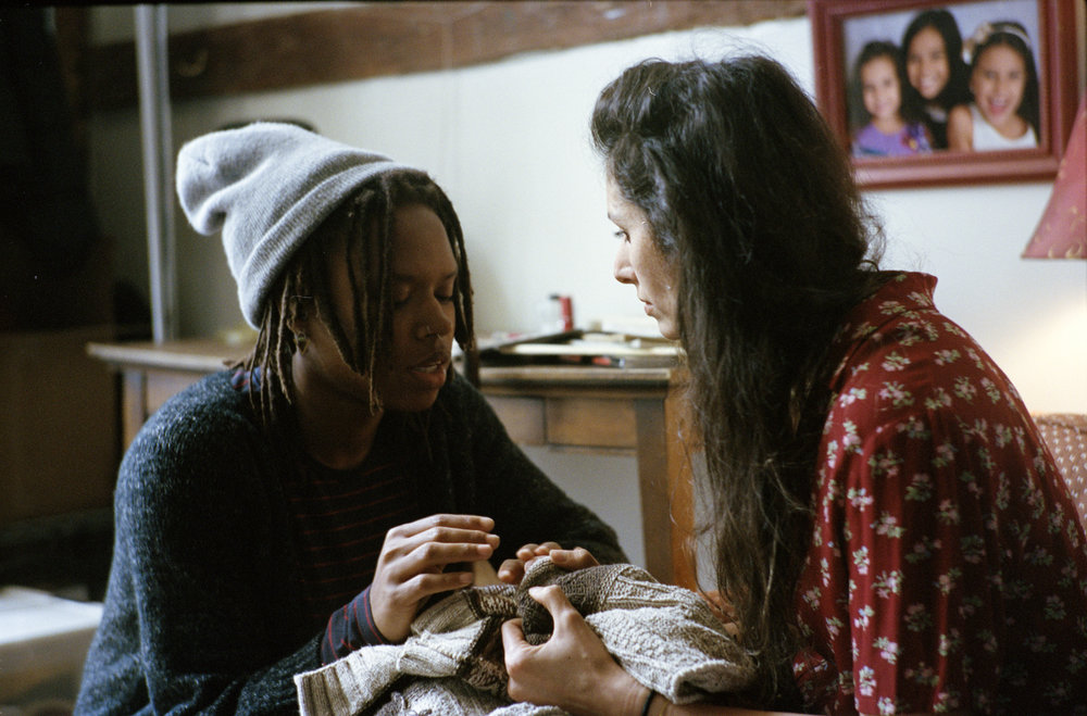 "Writer/director Raven Jackson and talent Dudu Eser on the set of ""Nettles""  Kodak Portra (35mm)"