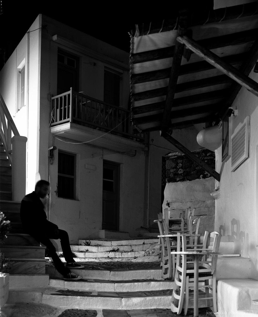 Smoking on the Steps