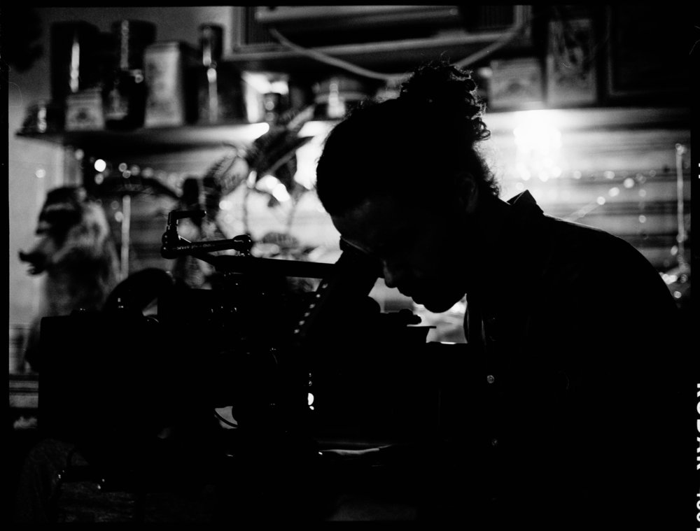 "DP Ryan de Franco on the set of ""The Hobbyist""  645 Kodak Tri-X (Medium Format)"