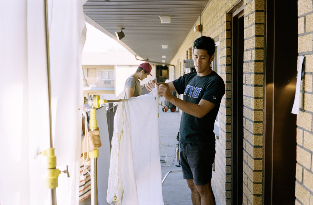 "grips at work on the set of ""Summer Animals""  Kodak Portra (35mm)"