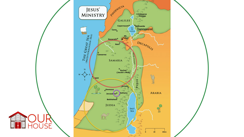 Jerusalem Judea Samaria And The Ends Of The Earth Map.Our House Why We Call The B I C Brethren In Christ Our Home 2