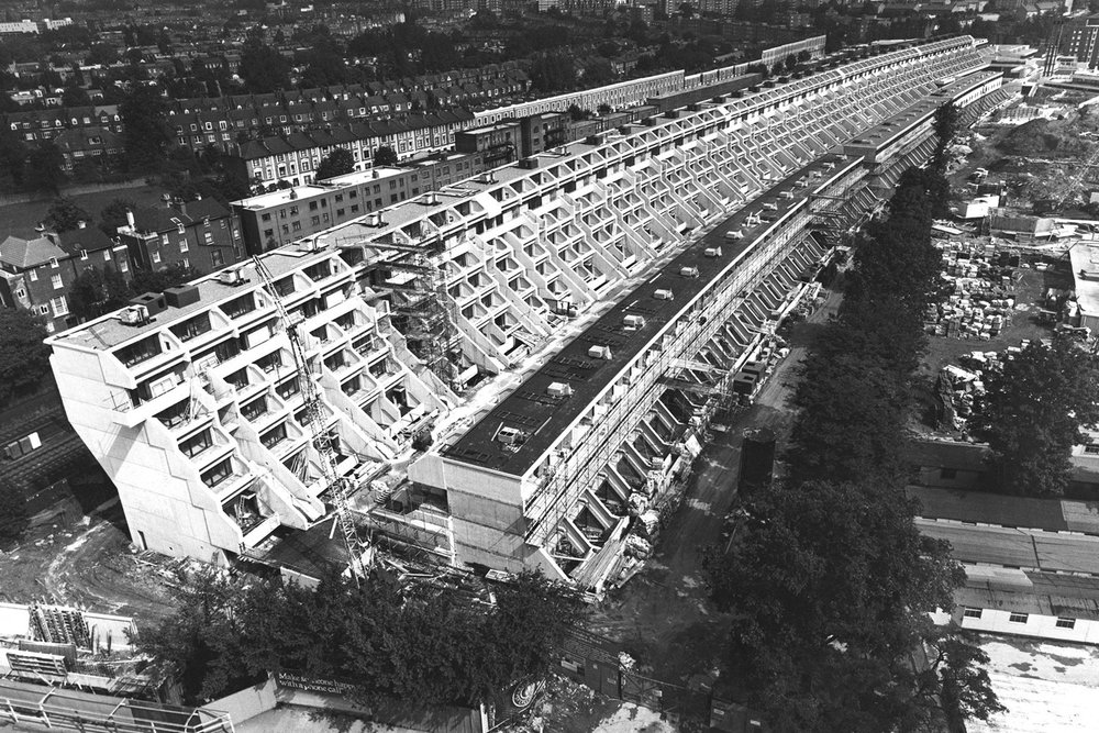 Alexander Road Estate, Camden, under construction in the 1970s