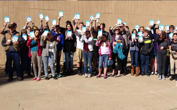 It was great to be able to have Joyce's book available for each teen. They were thrilled!