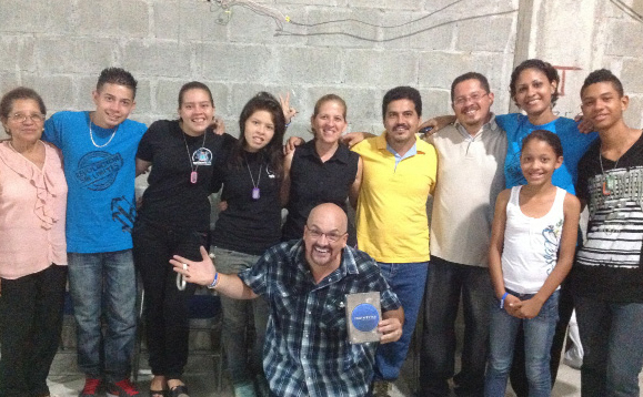 My new friend Pastor Angelo in Guapiles, Costa Rica, with his staff after our youth service.