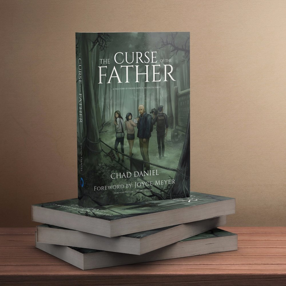 CURSE OF THE FATHER - In this dark and provocative first novel, lore whispers of lost souls and malevolent beings within the Suicide Forest; but when Chad and his crew venture off the beaten path, they must confront a much more sinister entity: themselves.