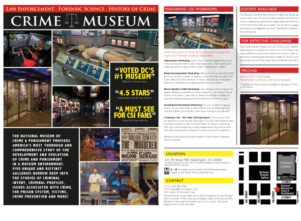 Crime Museum Info Flyer
