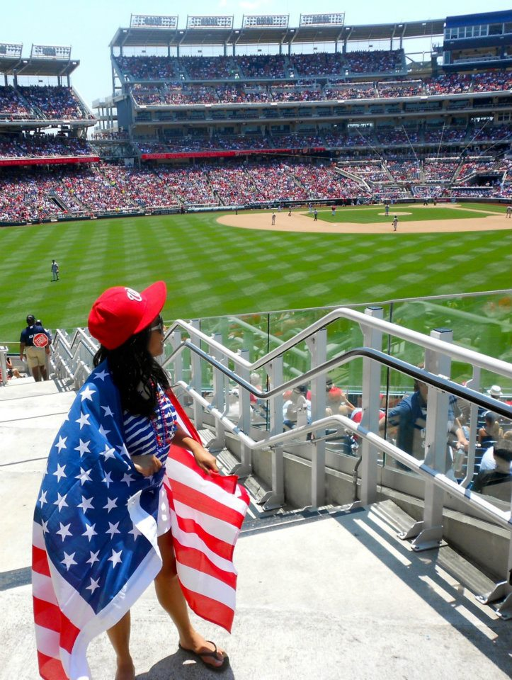 Forever my favorite photo at Nationals Park. This was during July 4th.