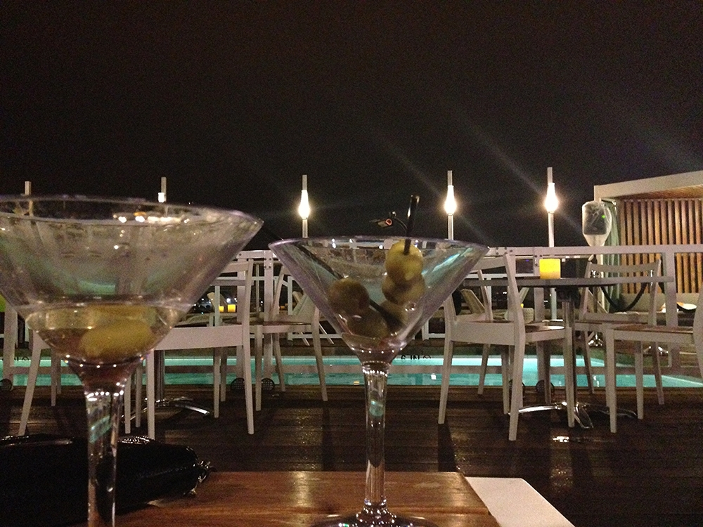Martinis at the DNV Rooftop Bar... Yes, there is a pool.