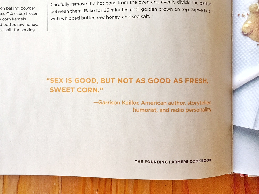 Wise words from the Founding Farmers Cookbook hehe