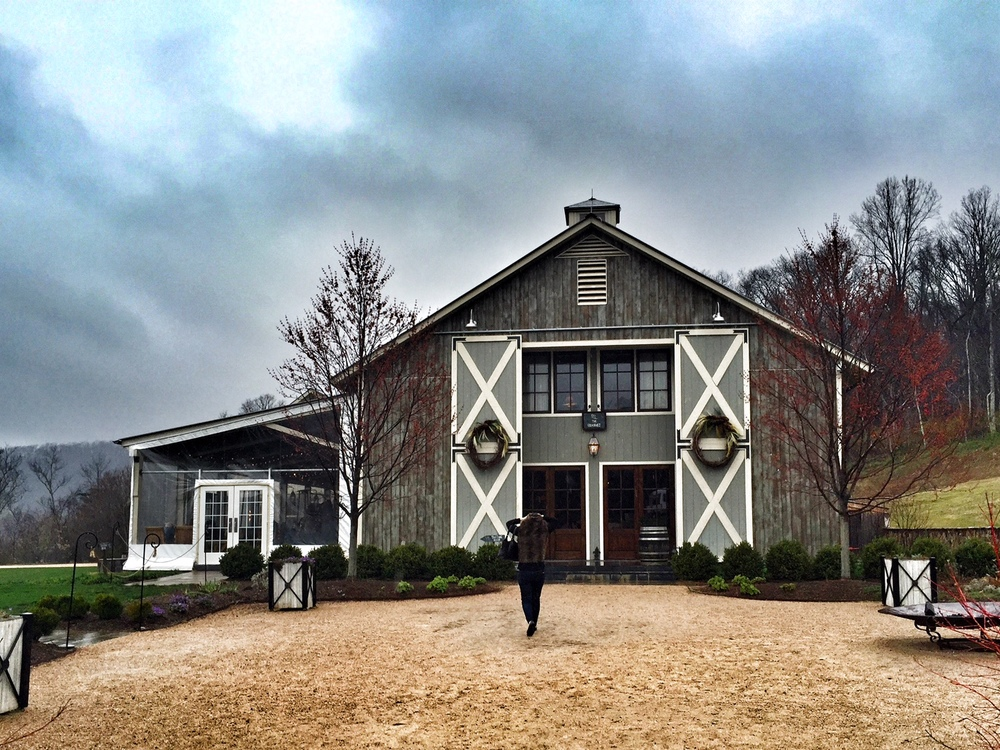 The main tasting room at Pippin Hill Farm & Vineyards. This is when it was just about to rain.