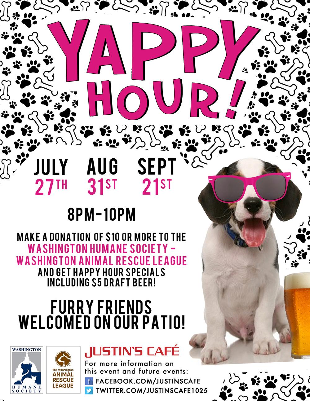 Yappy Hour For The Washington Humane Society Washington Animal
