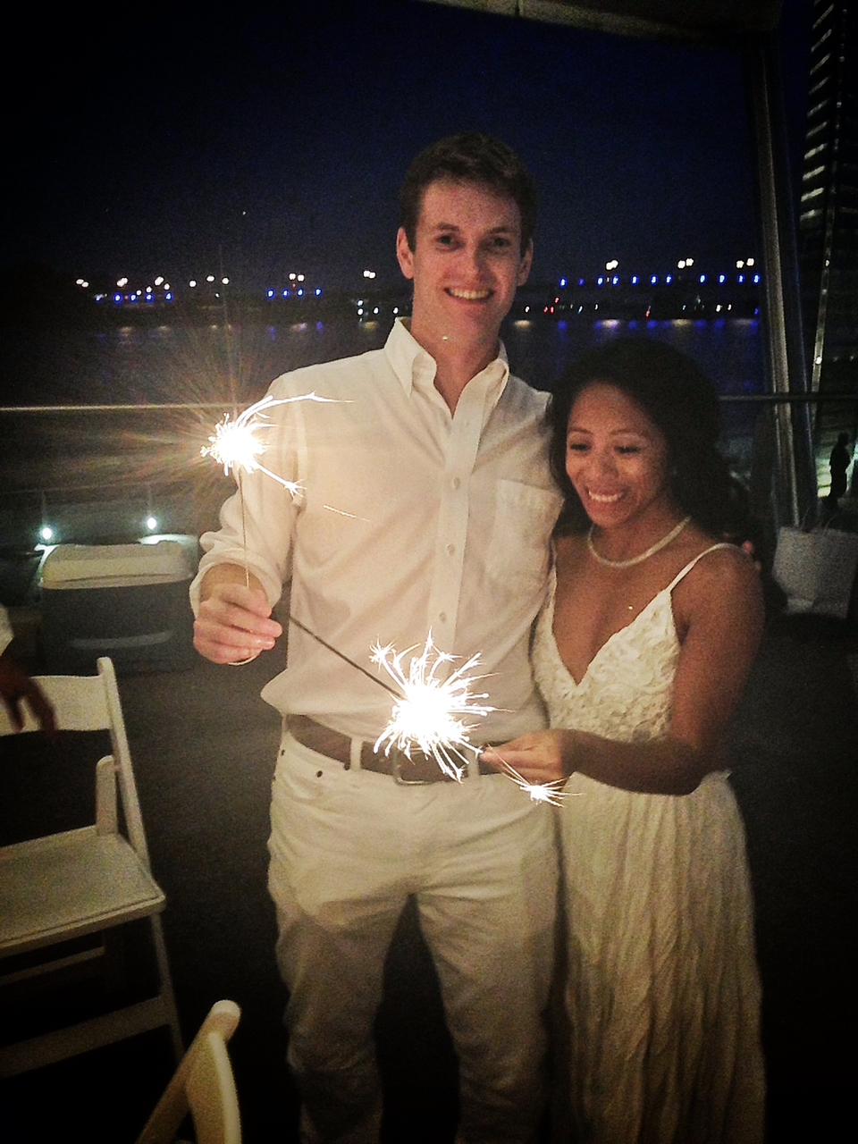 The sparkler send-off was an amazing experience