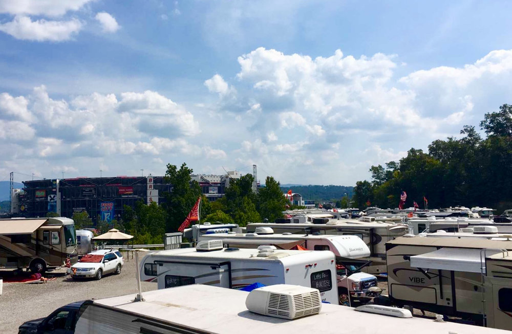 Our RV lot was so close to the stadium. It really made things SO easy that weekend.