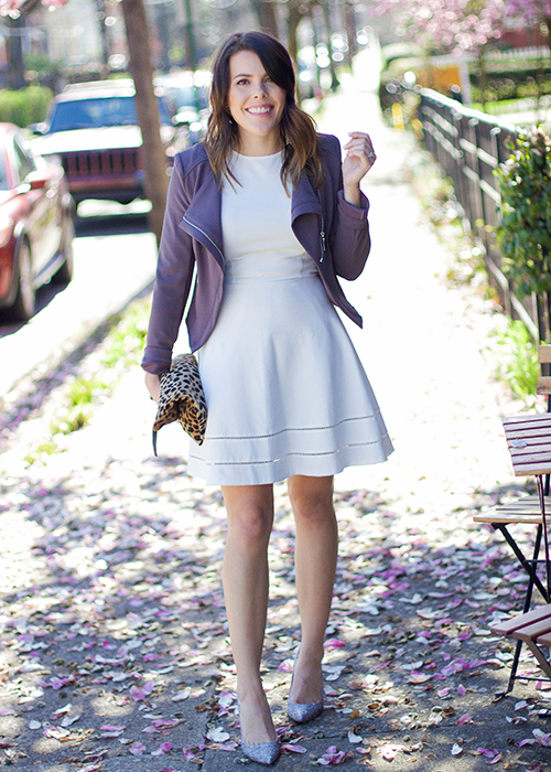 Shelby Skaggs of Glitter & Gingham wears the Imagine Vince Camuto Olivier Embellished Pump.