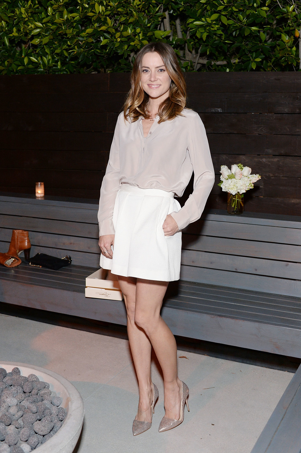 Jessica Stroup wears Imagine Vince Camuto Ossie Pumps.