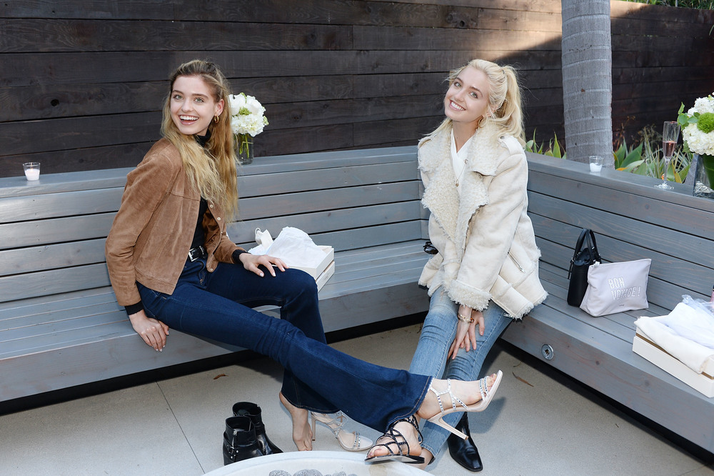Baylee Soles and Kelsey Soles wear Imagine Vince Camuto Gem and Ryan Sandals.