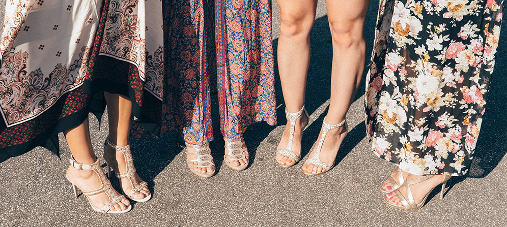 From left: Imagine VInce Camuto Price High Heel Sandal; Imagine Vince Camuto Gavin Cage Heel; Imagine Vince Camuto Phoebe T-Strap Sandal; Imagine Vince Camuto Devin High Heel
