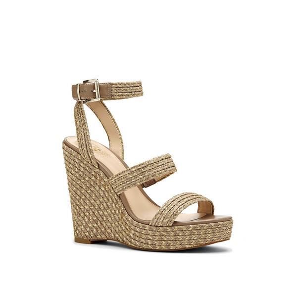 Melisha Raffia Platform Wedge
