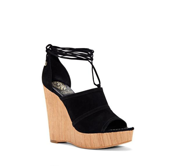 Maleena Wood-Wrapped Platform Wedge