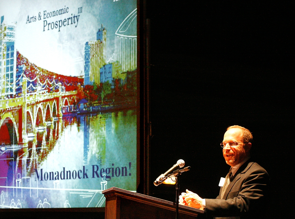 Randy Cohen, Vice President of Research and Policy at Washington DC's American's for the Arts,presents the results from the 2008-2009 Arts and Economic Prosperity Study III done in the Monadnock Region.