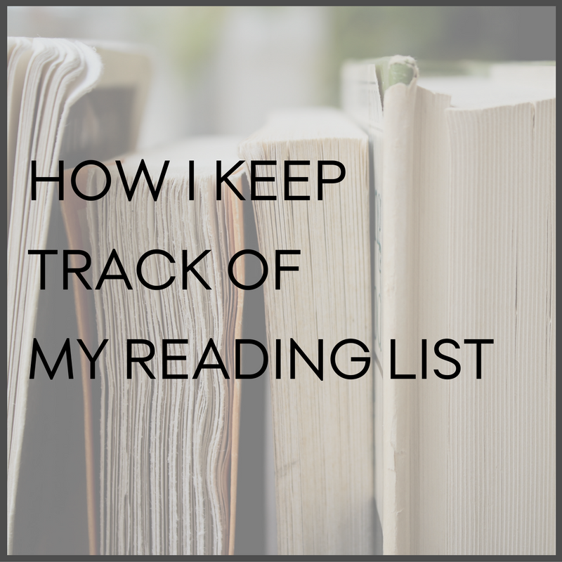 how i keep track of my reading list the inspired office