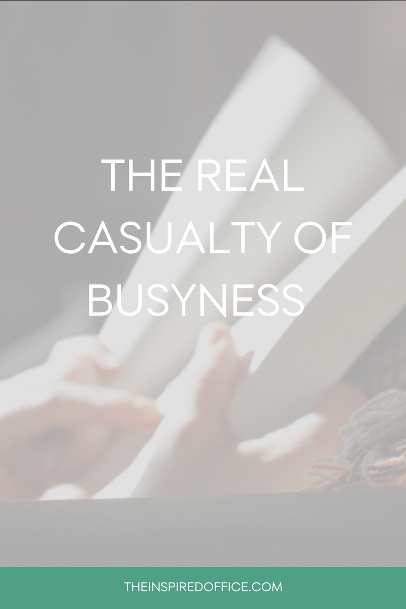 "Every once in a while a quote or passage grabs me in a way that I know, if revisited often, it will actually change my actions. This particular one has me thinking about ""busyness"" and how I can weed some of it out of my life. Click to read the quote and tell me how you'll release some ""busyness"" in your life."