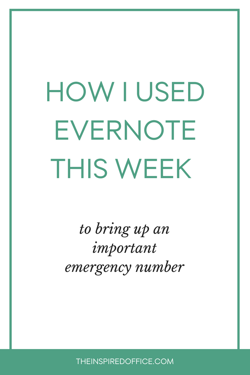 Organizing my household papers and documents in Evernote was a lifesaver when I came home to find my house flooding! See how Evernote is the perfect place to store those important papers you may need to find quickly in an emergency.