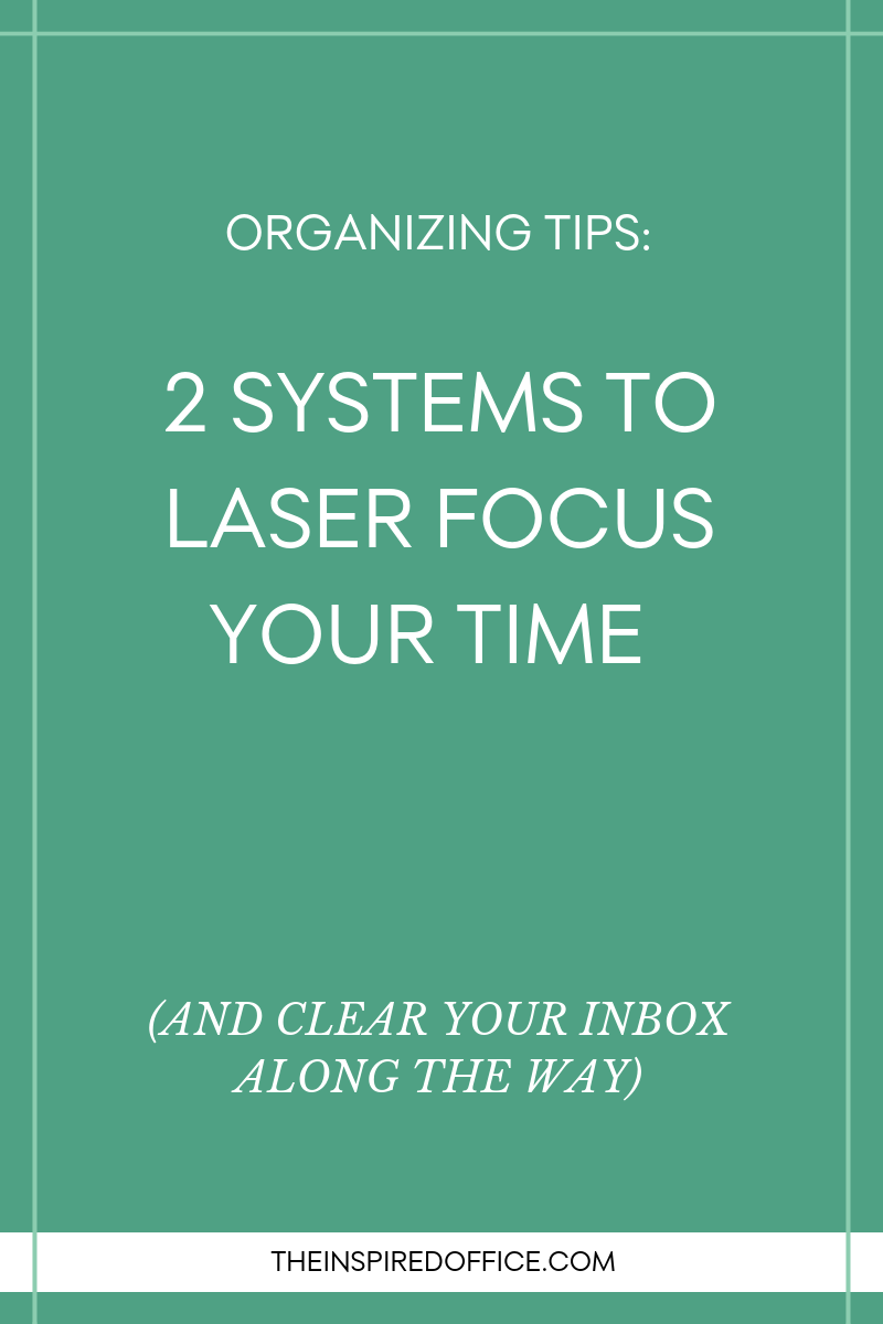 Tips for organizing to be more productive with your time.