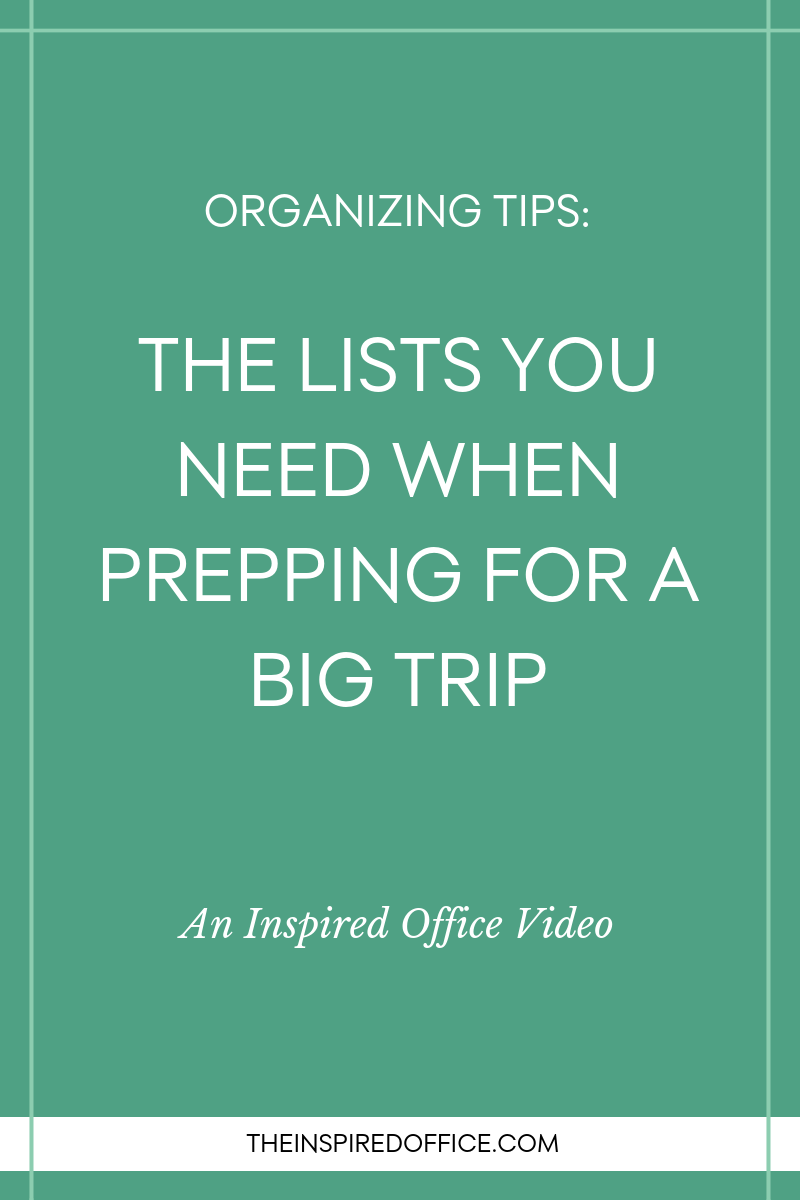 Find out how Kacy Paide, professional organizer, recommends you organize your packing and prepping for a trip using lists.