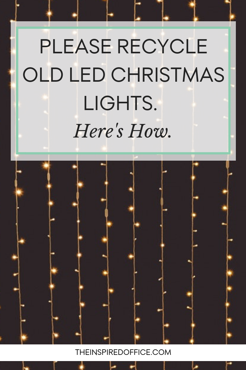Kacy Paide, professional organizer from Washington DC, shares what to do with old Christmas lights instead of throwing them away.