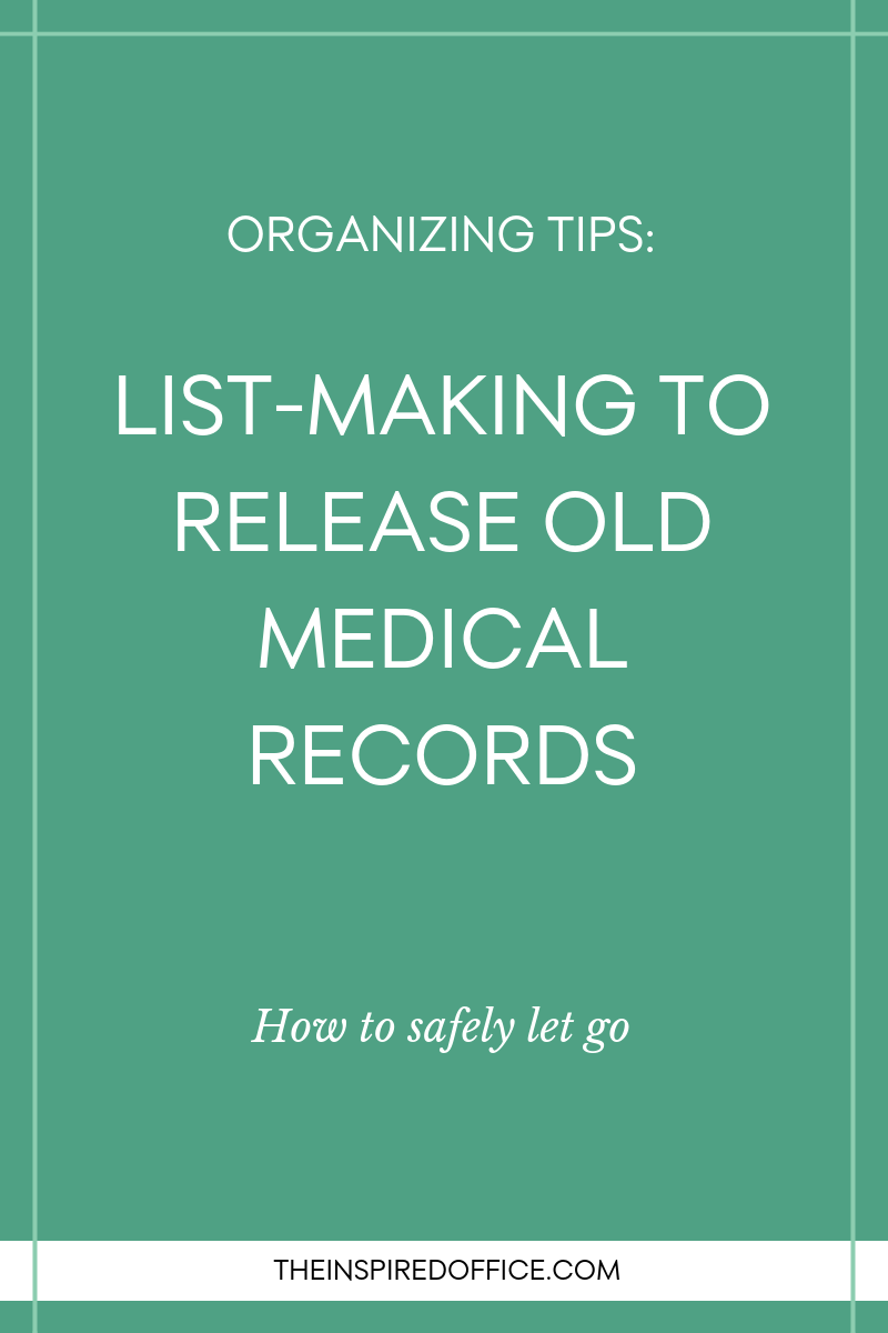 Kacy Paide, professional organizer in Washington, DC, shares practical tips to organize and get rid of old medical records.